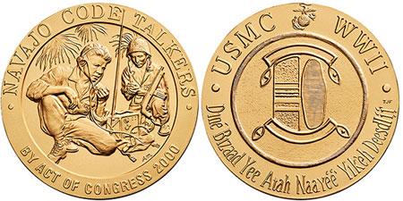 ميدالية تكريم النافاجو الذهبية