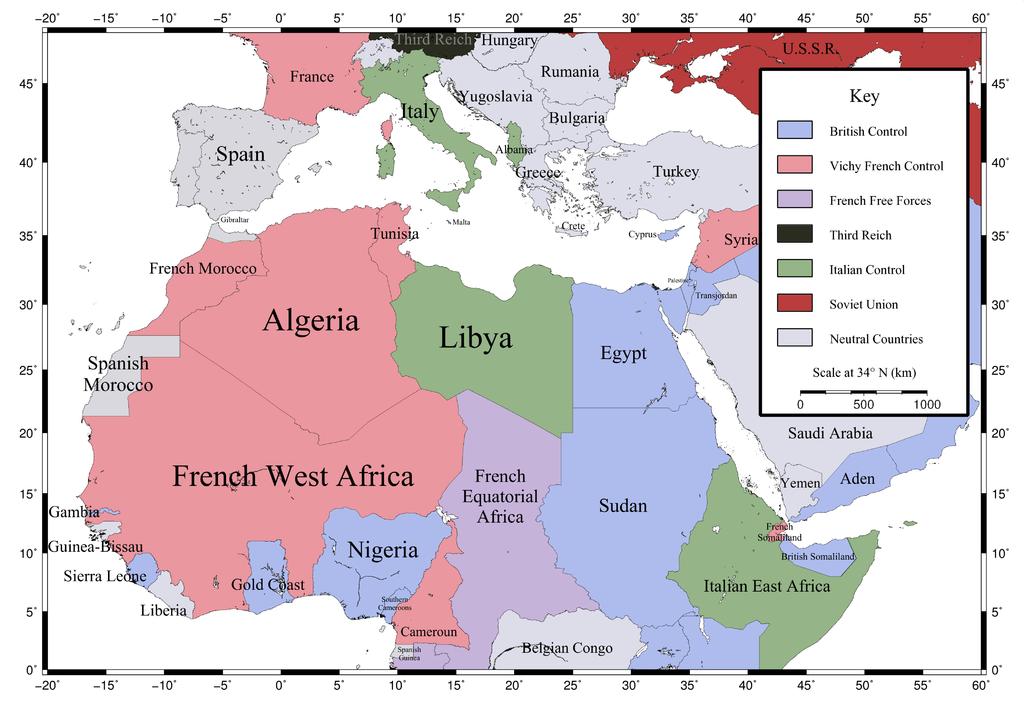خريطة المستعمرات