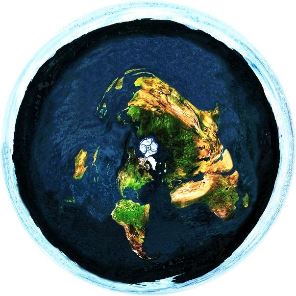 خريطة الارض المسطحة