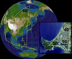مثلثات فوق سطح الأرض